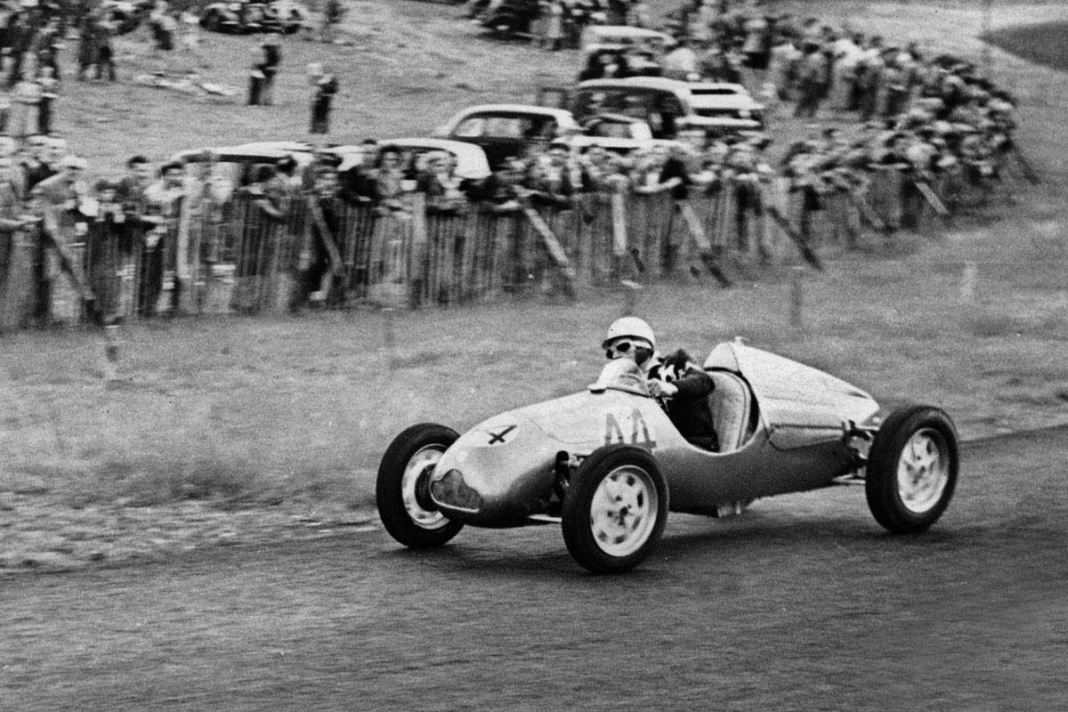 Stirling Moss in Cooper 500 at Brands Hatch, 1950