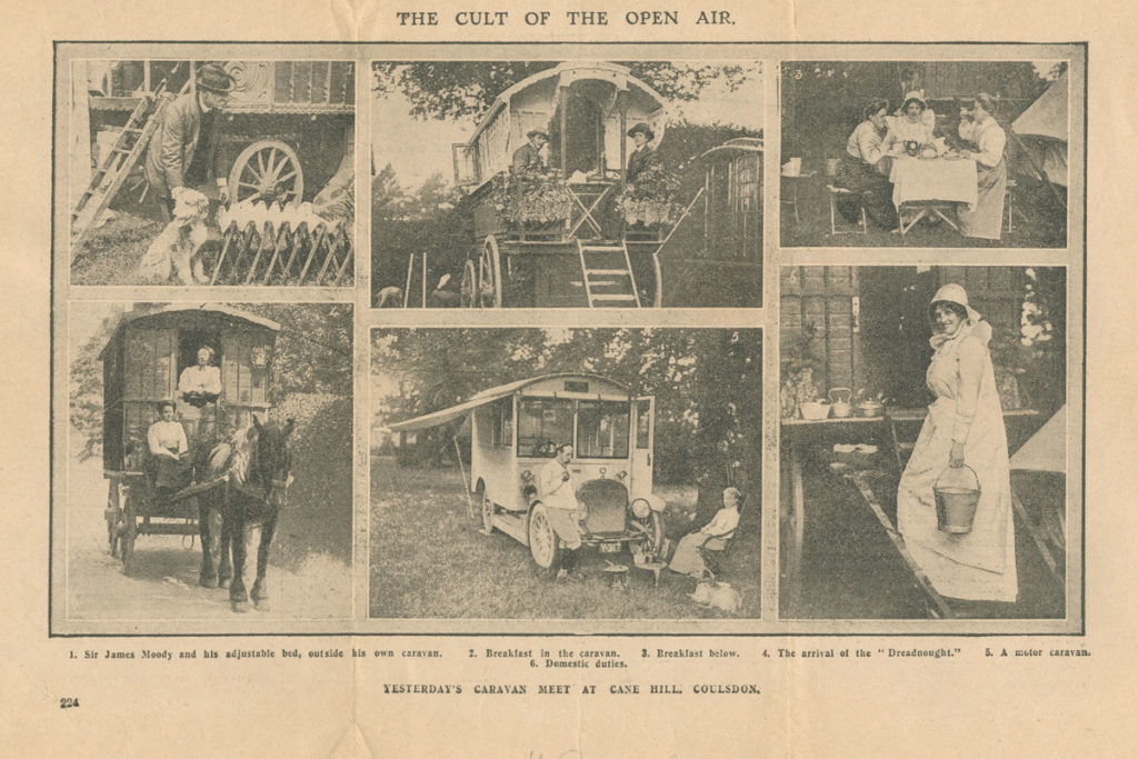The Caravan Club's 1910 Coulsdon Meet reported in the Daily Graphic.