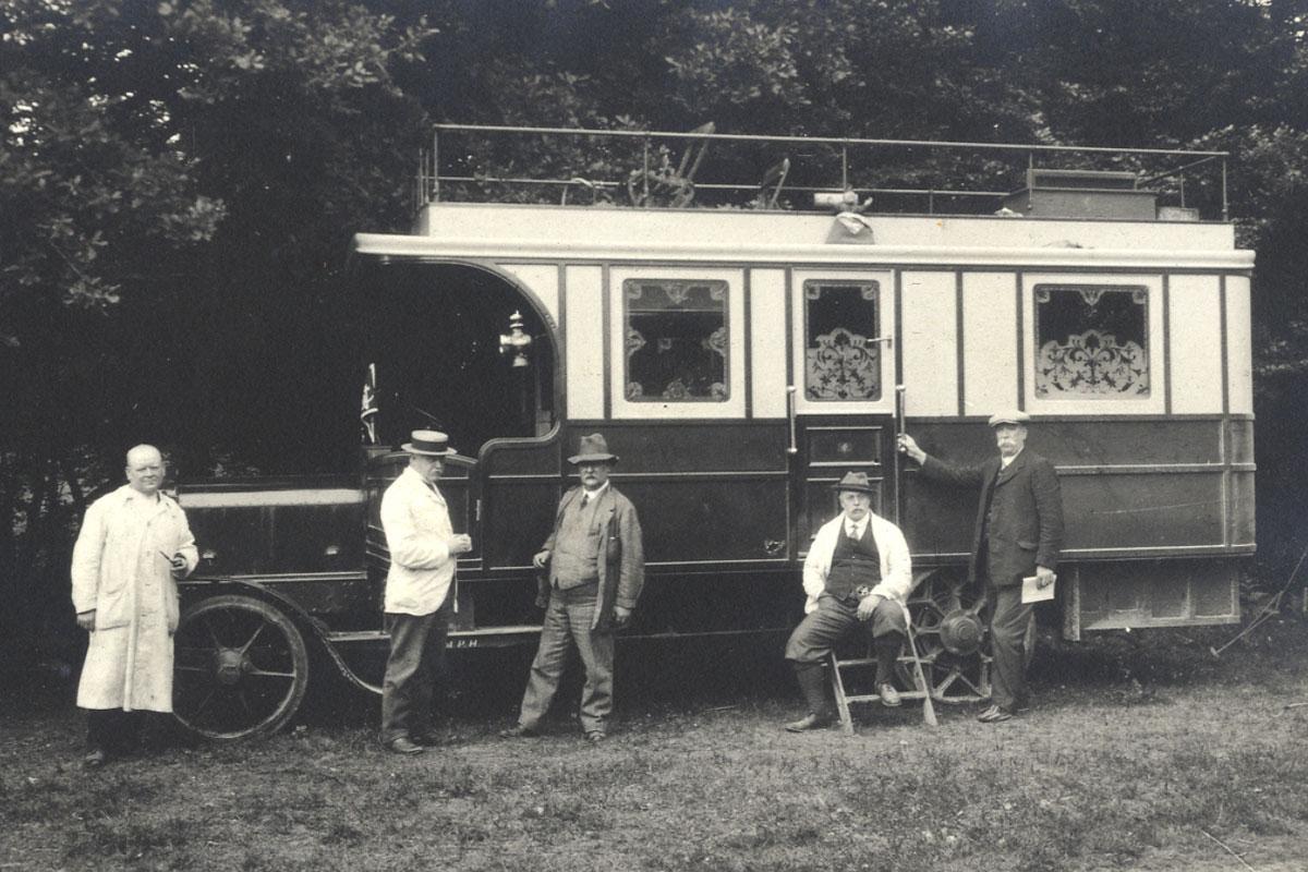 Mr Albert Fletcher's 1913 Daimler chassis motor caravan