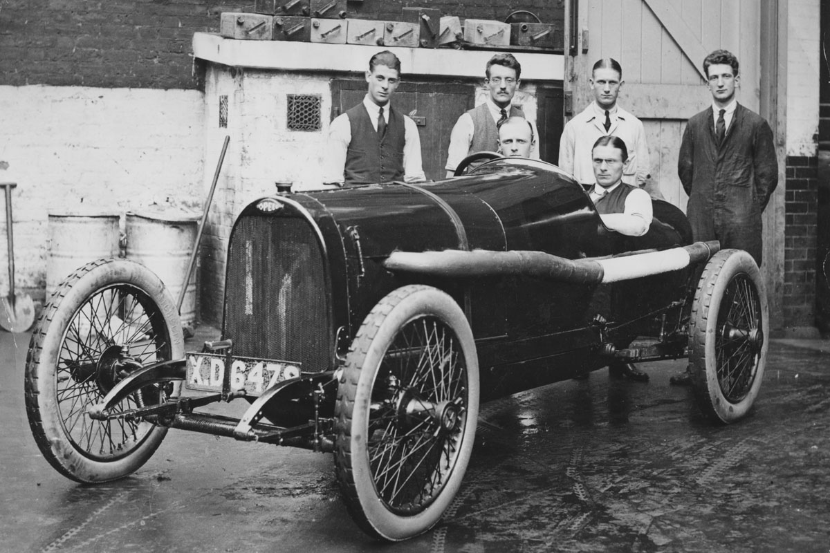 Henry Segrave in 1914 Opel the car he won his first race in on 20 May 1920.