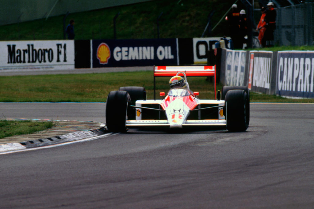 Ayrton Senna in McLaren MP4, British GP, 1988
