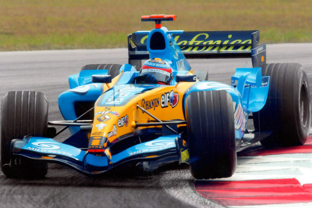 Fernando Alonso in Renault RS25, 2005