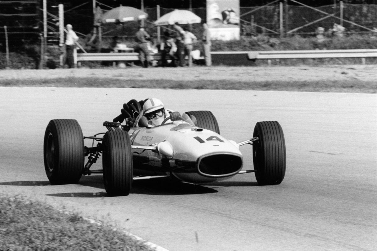 John Surtees in Honda V12 at the Italian Grand Prix, 1967