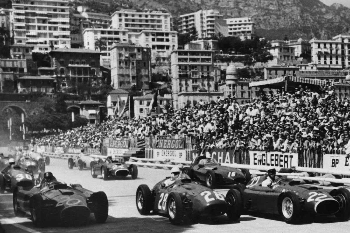 Start of the Monaco Grand Prix, 1956