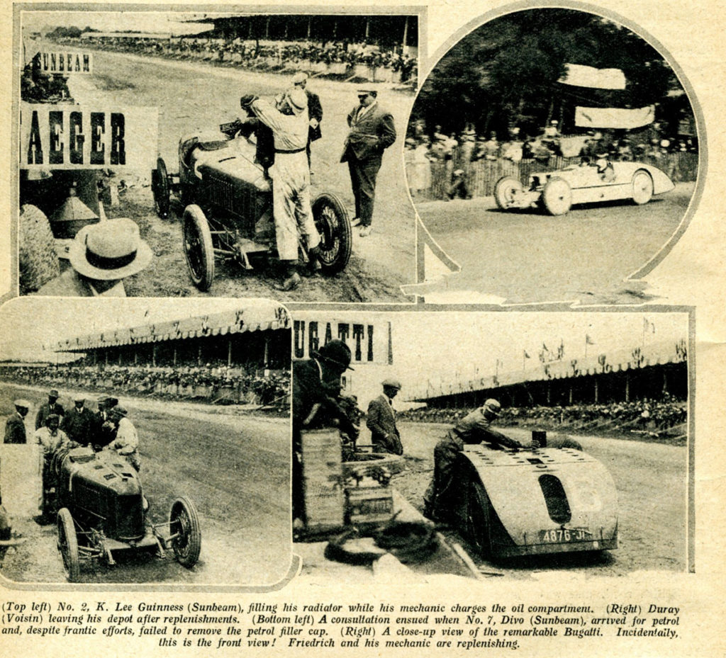 1923 French GP pit lane drama pictured in The Autocar