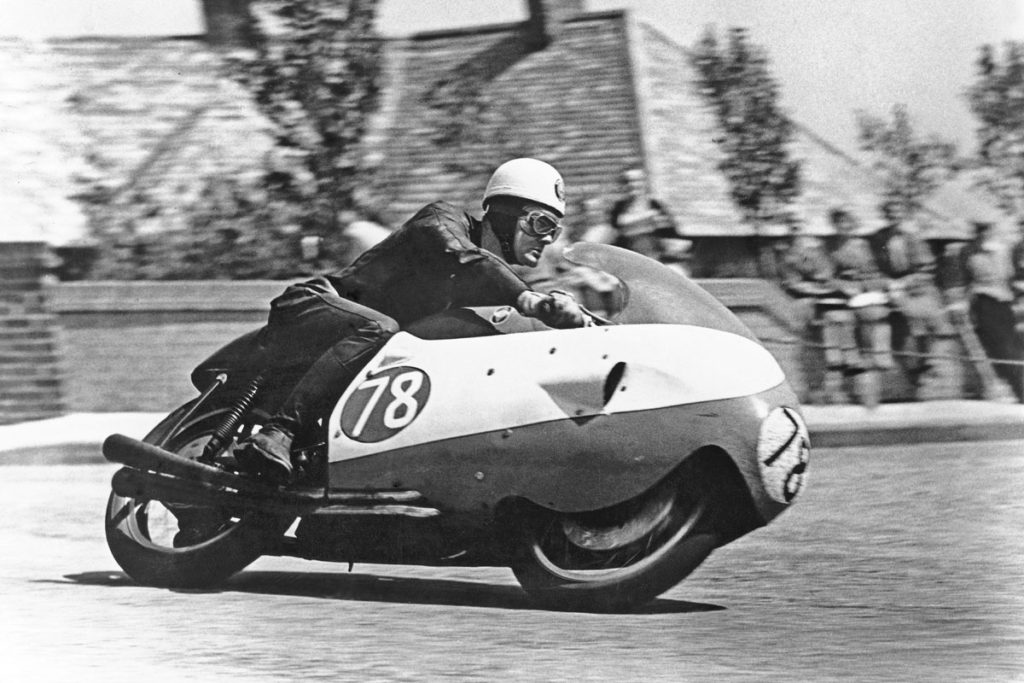 Bob McIntyre at the 1957 Senior TT