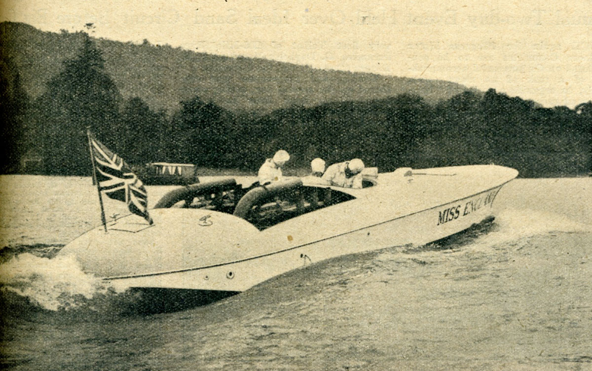 Miss England II on Lake Windermere