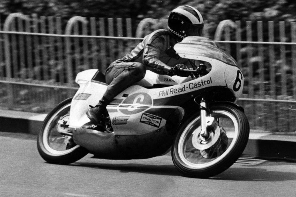 Phil Read on a Yamaha Lightweight at the 1971 TT