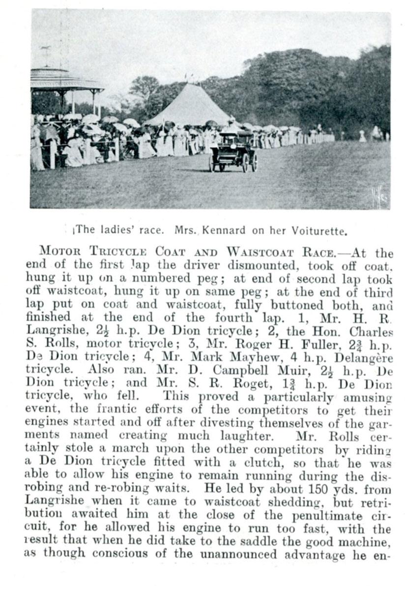 Autocar article, Ranelagh Club Gymkhana
