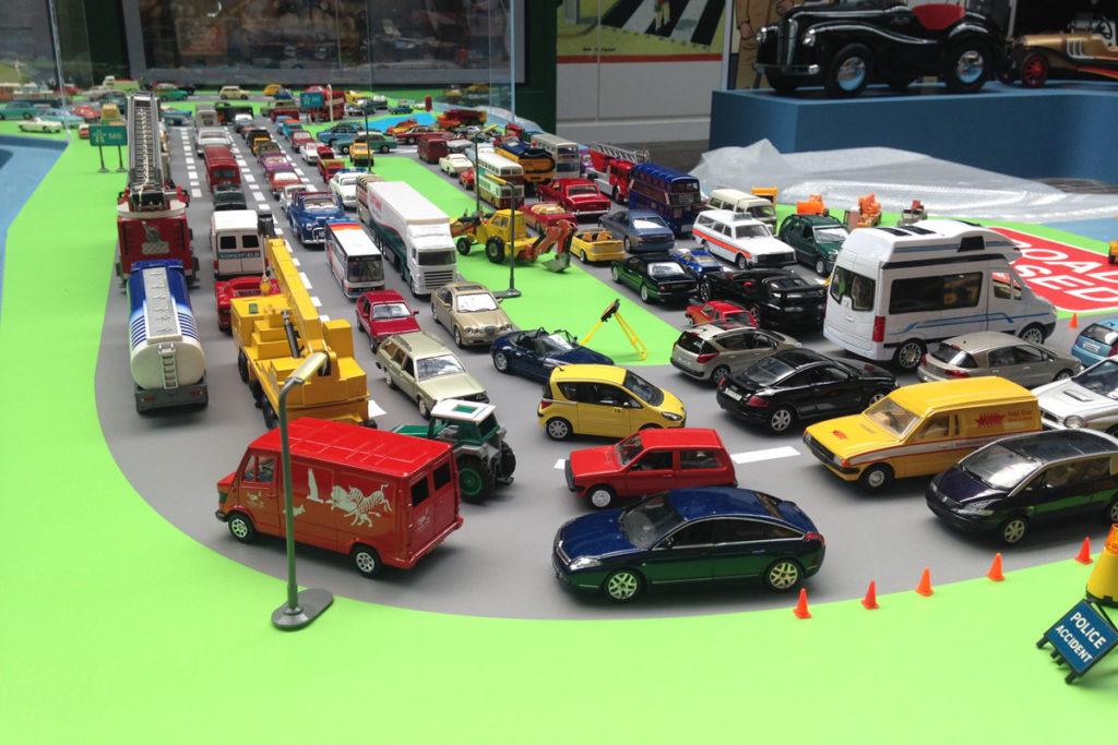 Motoring in Miniature model road