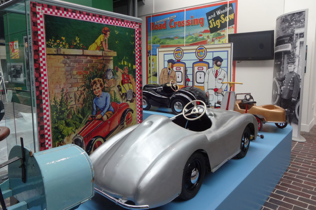 Pedal car on display in the Museum