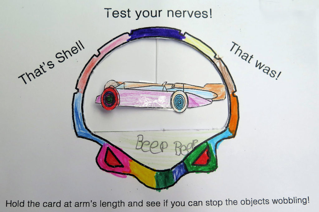 Example of a completed test your nerve activity