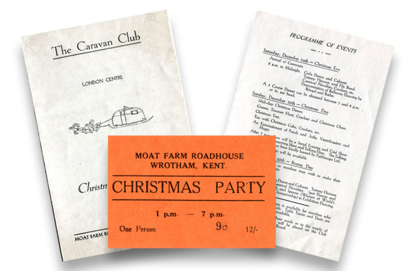 Programmes and tickets relating to a Caravan Club rally
