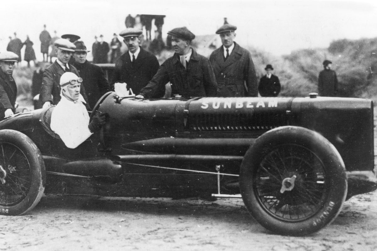 Henry Segrave in the 4 Litre Sunbeam, Southport, 1926