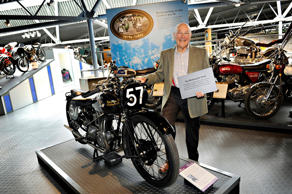 Murray Walker with his father's 1928 Rudge Whitworth
