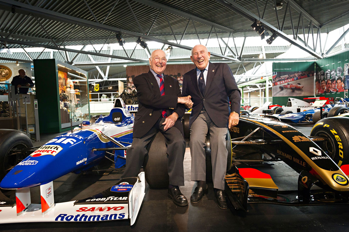 Murray Walker and Sir Stirling Moss at the National Motor Museum