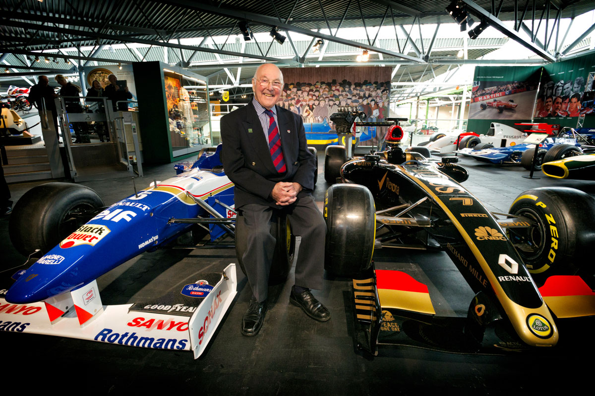 Murray Walker at the National Motor Museum