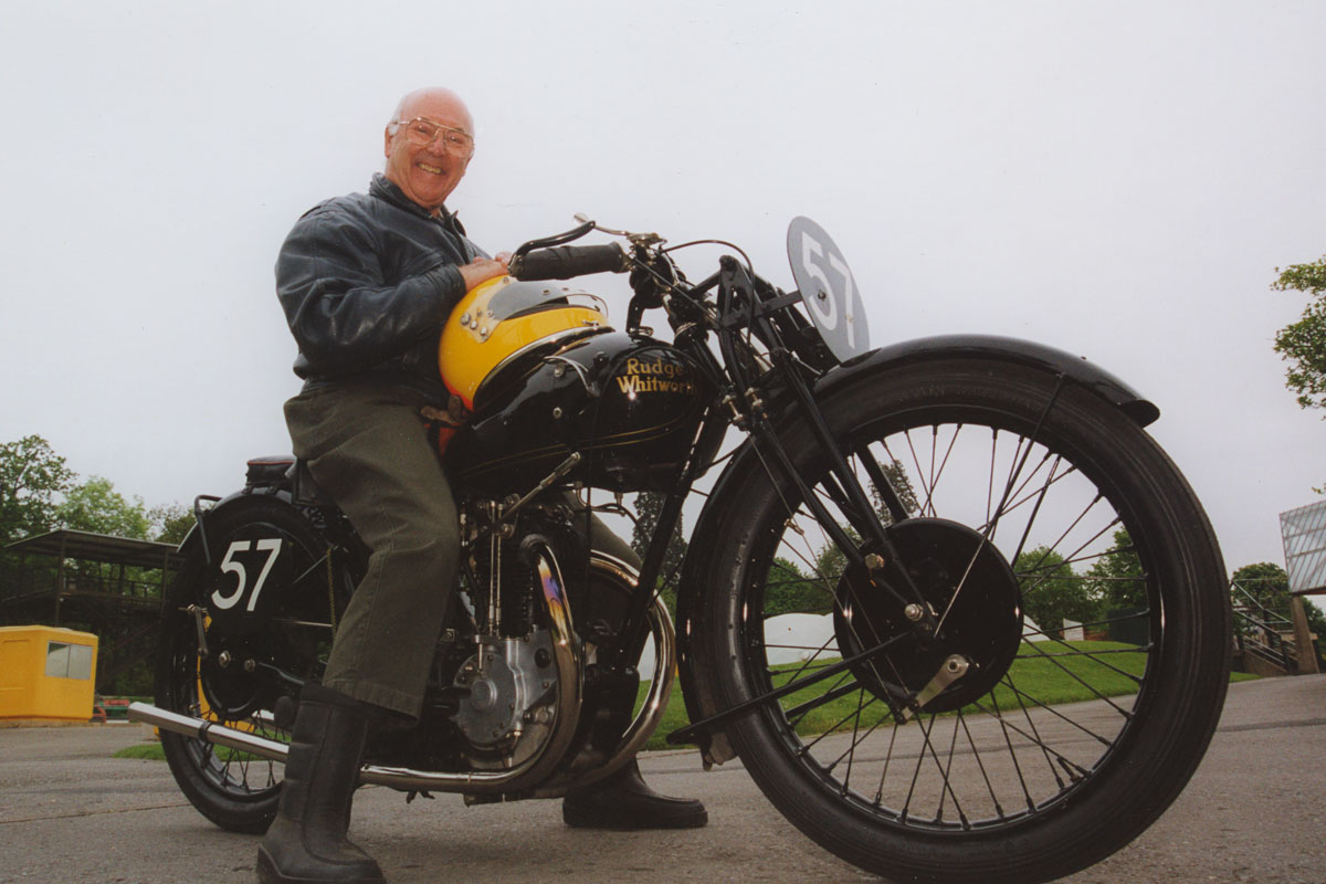 Murray Walker on his Father's 1928 Rudge Whitworth