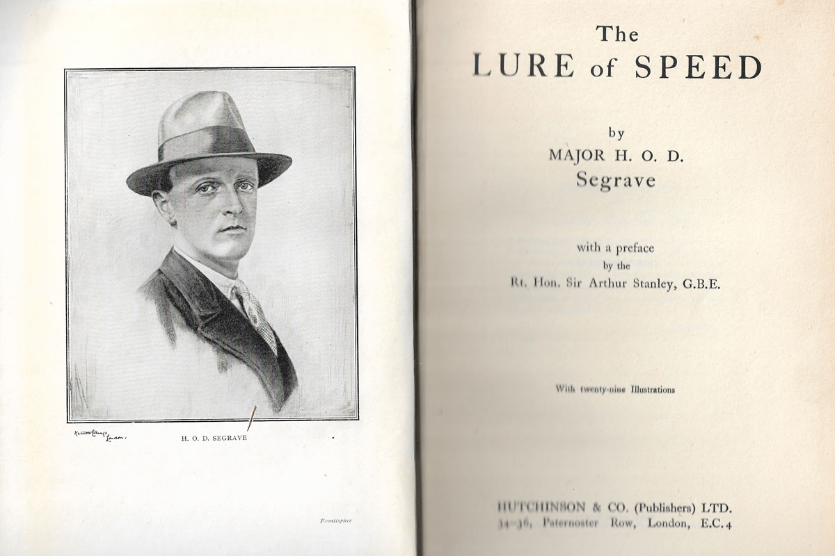 Frontispiece of The Lure of Speed book
