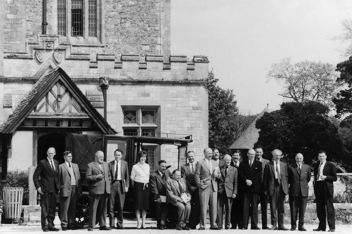 Library opening part outside Palace House, April 28 1961
