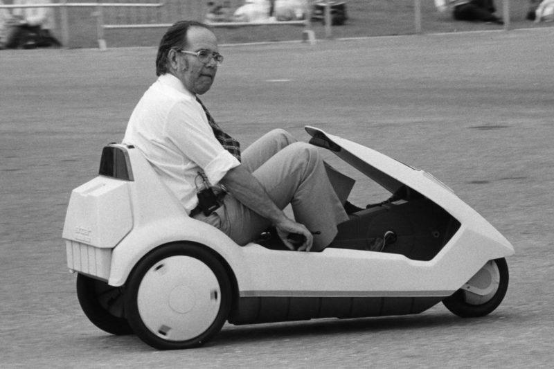 Graham Robson driving a Sinclair C5