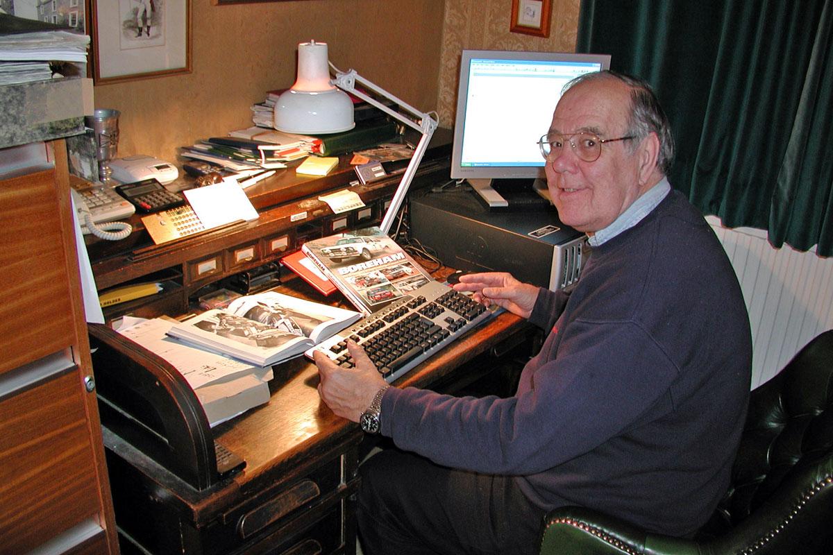 Graham Robson at his desk at home