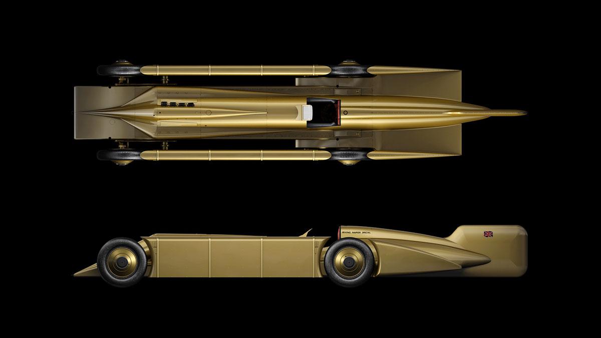Golden Arrow 3D model profile