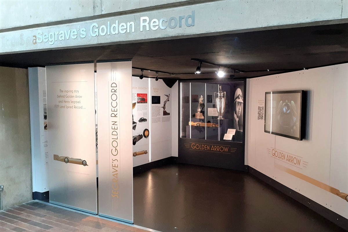 Segrave's Golden Record booth