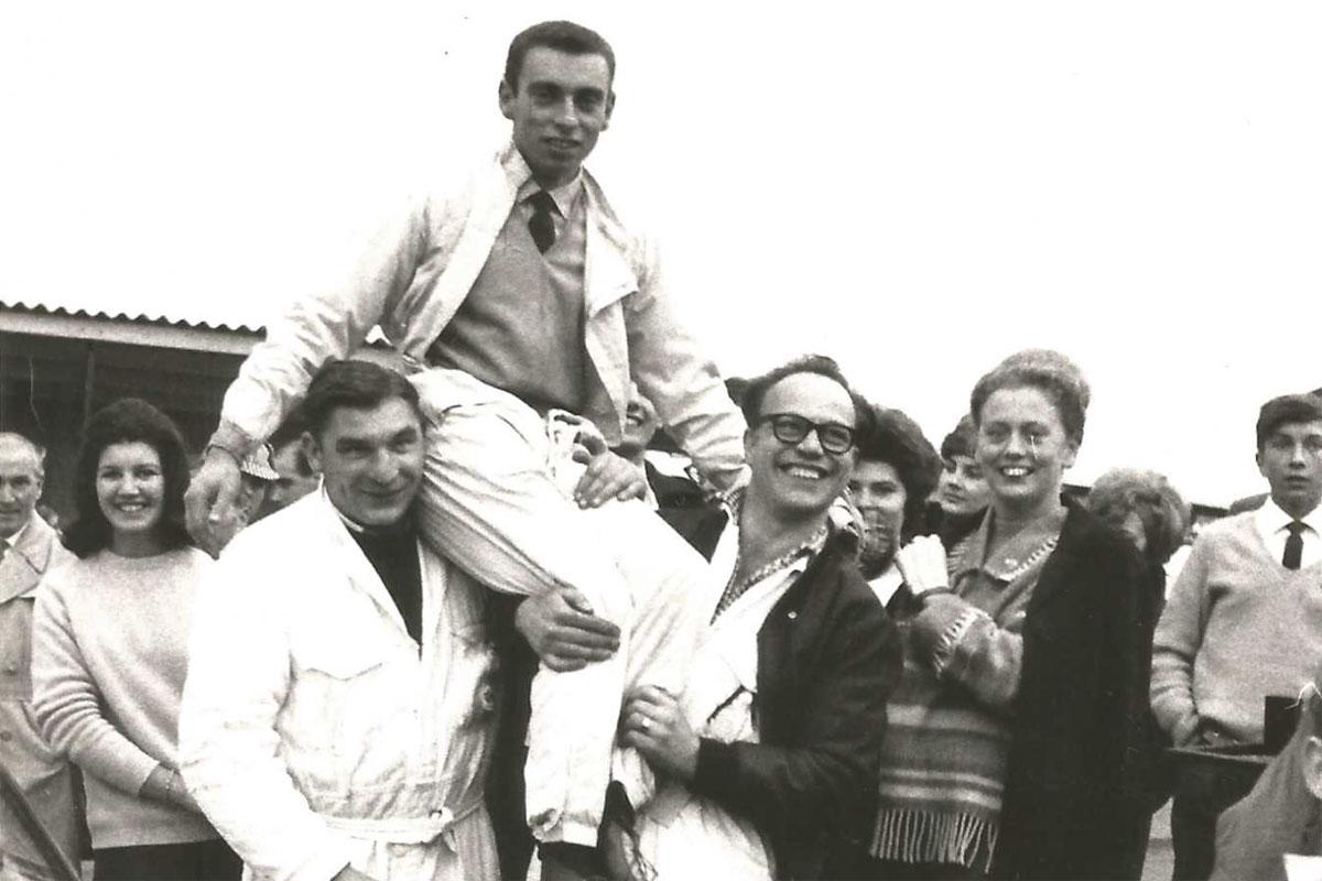 Roger Nathan winning at Brands Hatch 1963