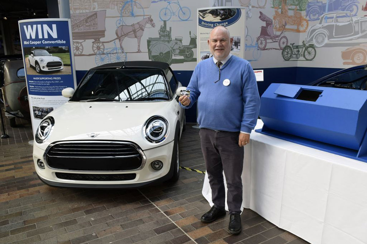 Raffle Draw 2021 taking place in the National Motor Museum