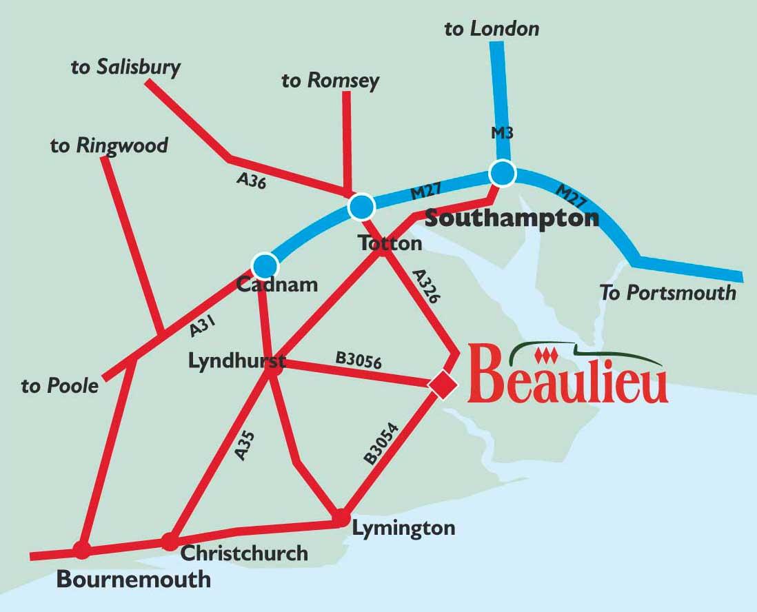 Map of Beaulieu